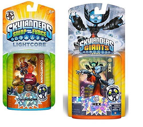 Skylanders Lightcore Giants Hex And Countdown (Bundle of 2 Charactors)