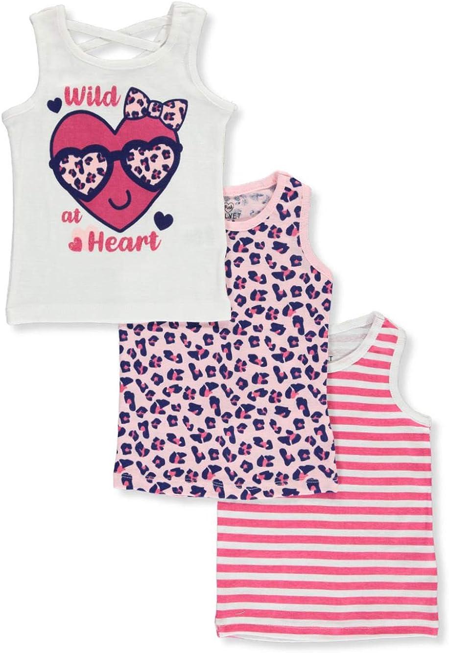 Pink Velvet Girls Wild at Heart 3-Pack Tank Tops