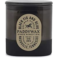 Paddywax Candles Vista Collection Scented Candle, 12-Ounce, Black Fig & Olive, 12 Ounces