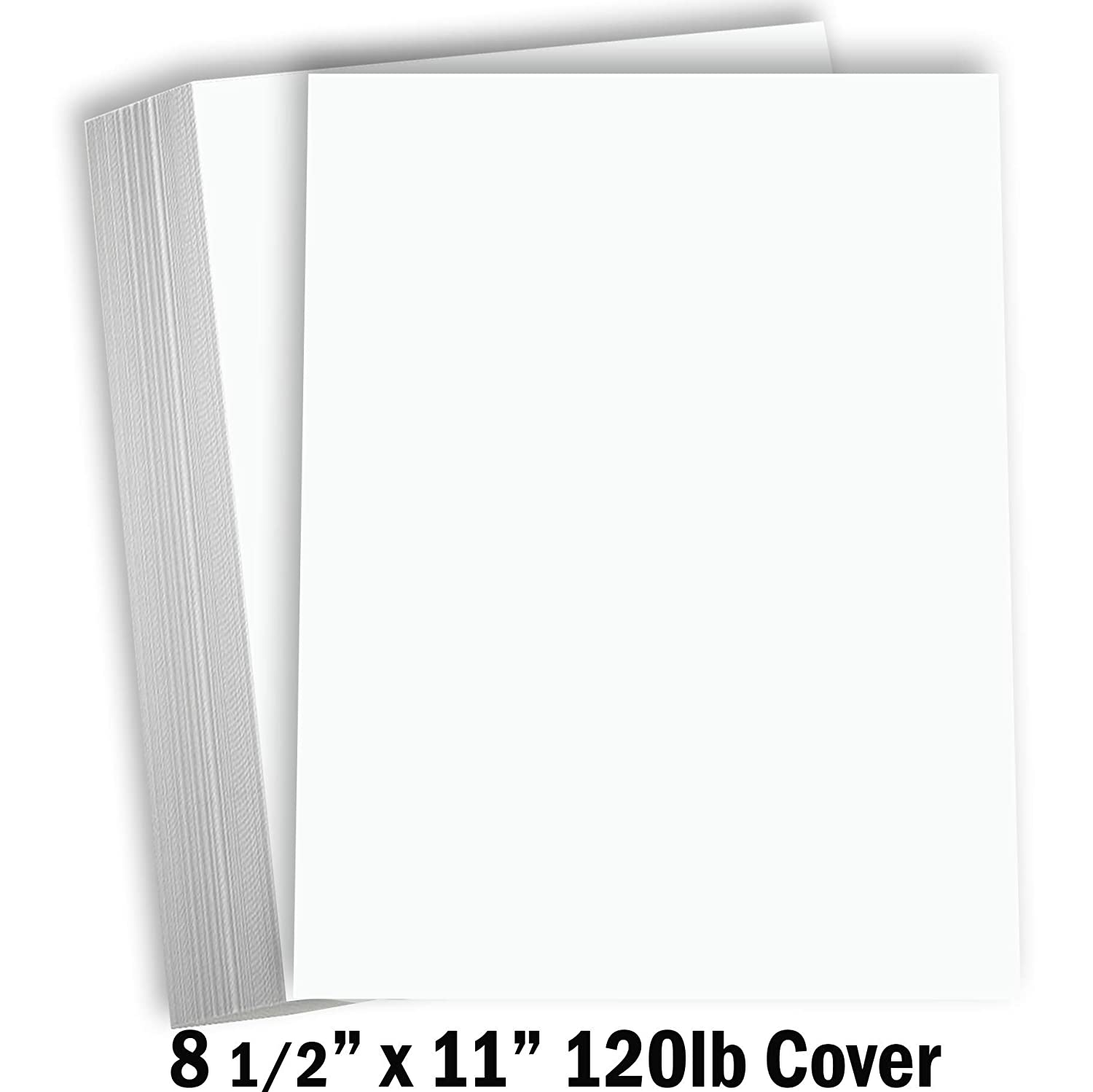 "Hamilco White Cardstock Thick Paper 8 1/2 x 11"" Heavy Weight 120 lb Cover Card Stock - 50 Pack"
