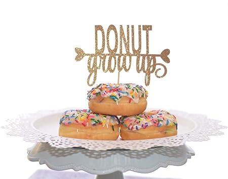 Donut - Decoración para tarta de cumpleaños con diseño de ...