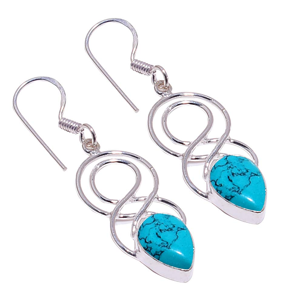 SilverArt Handmade Earring 925 Sterling Silver Plated Jewelry for Womens and Girls