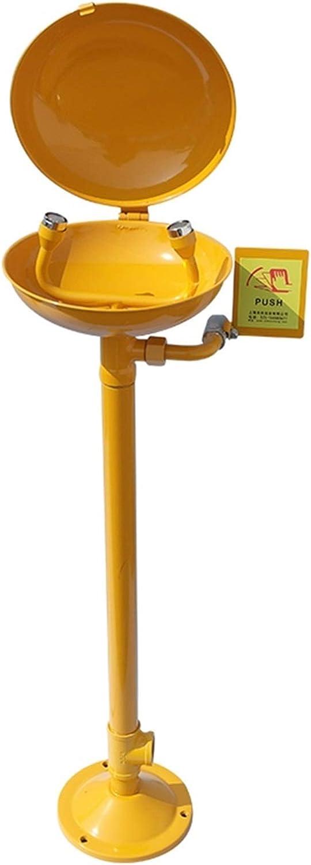 BBGS Estación de Lavado de Ojos Lavaojos de Emergencia Lavaojos de Seguridad de Acero Inoxidable Equipos de Limpieza Tipo Pared (con Tapa Abatible) (Color : Style 1)