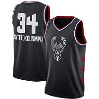 Antetokounmpo Jersey, Bucks Uniforme Antetokounmpo Bordado Baloncesto Jersey No. 34 Baloncesto De La NBA