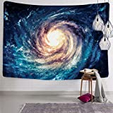BLEUM CADE Wall Tapestry Wall Hanging Galaxy Tapestry Sky Tapestry Space Tapestry 3D Milky Way Tapestry Hippie Mandala Bohemian Tapestry Living Room Bedroom Space Decor