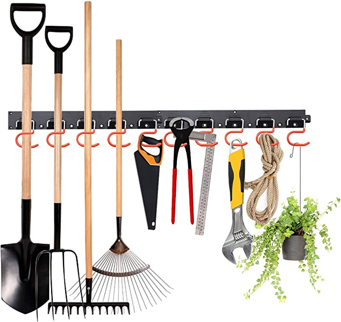 The Best Peg Track For Lawn And Garden Tool Storage