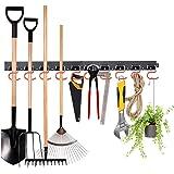 MOHOO 64 Inch Adjustable Storage System, Wall Holders for Tools, Wall Mount Tool Organizer, Garage Organizer, Garden…