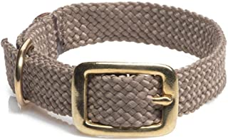 product image for Mendota Pet Double Braid Collar - Brass - Dog Collar - Made in The USA - Tan , 9/16 in x 14 in Junior