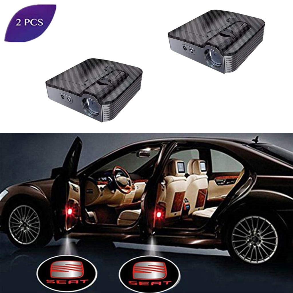 Car Door Logo Light 2 Pack LED Car Projector Logo Spirit Shadow Light Door Lighting Welcome Lamp Wireless Laser Projector Logo Light Compatible for GMC
