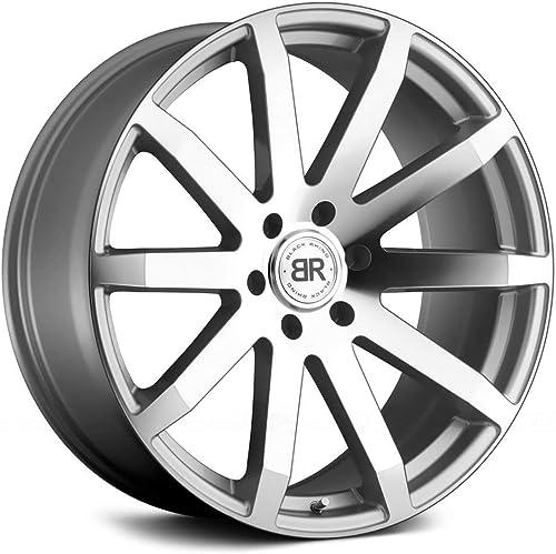 Black Rhino Traverse Custom Wheel – Silver with Mirror Cut Face 20 x 9 , 30 Offset, 6×135 Bolt Pattern, 87.1mm Hub
