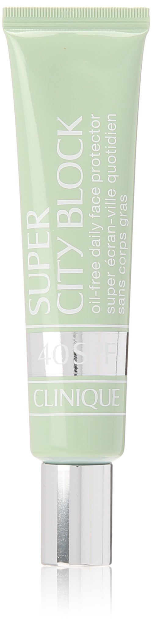 Clinique Super City Block, Oil-Free Daily Face and Skin Protector and Moisturizer, Broad Spectrum SPF 40 UVA/UVB Sun-Blocking Ingredients, Free of Parabens, Phthalates, and Sulfates, 1.4 Fl Oz by Clinique