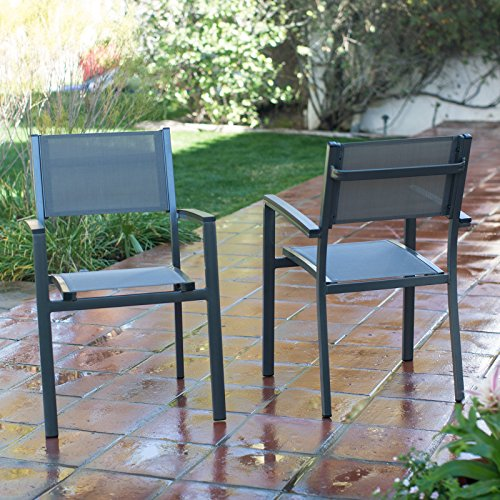 Coral Coast Whitney Sling Stacking Outdoor Patio Dining ()