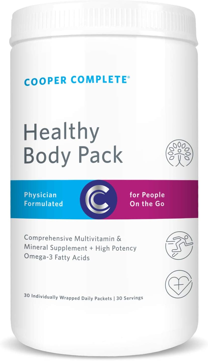 Cooper Complete – Healthy Body Pack – Daily Vitamin Pack with Multivitamin Omega-3 Fish Oil – 30 Day Supply