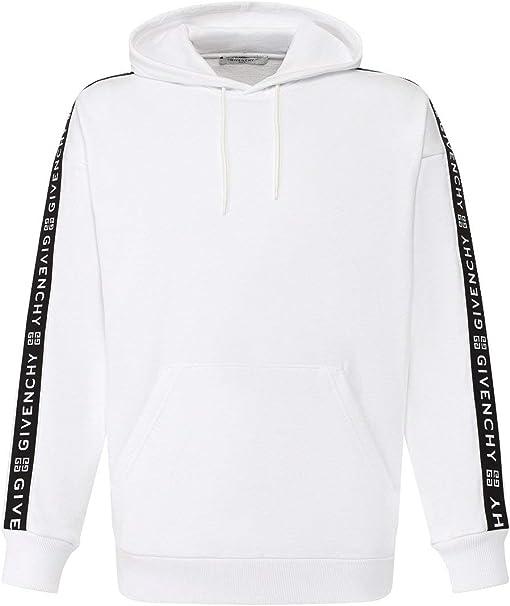 Canberra mantenere Amplificare  Givenchy Felpa Uomo Bianco con Cappuccio e Strisce 4G: Amazon.it:  Abbigliamento