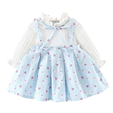 Toddler Baby Girl Mesh Dress Summer A-line Lace Patchwork Ribbon Off Shoulder Belt Casual Clothes With The Best Service Dresses