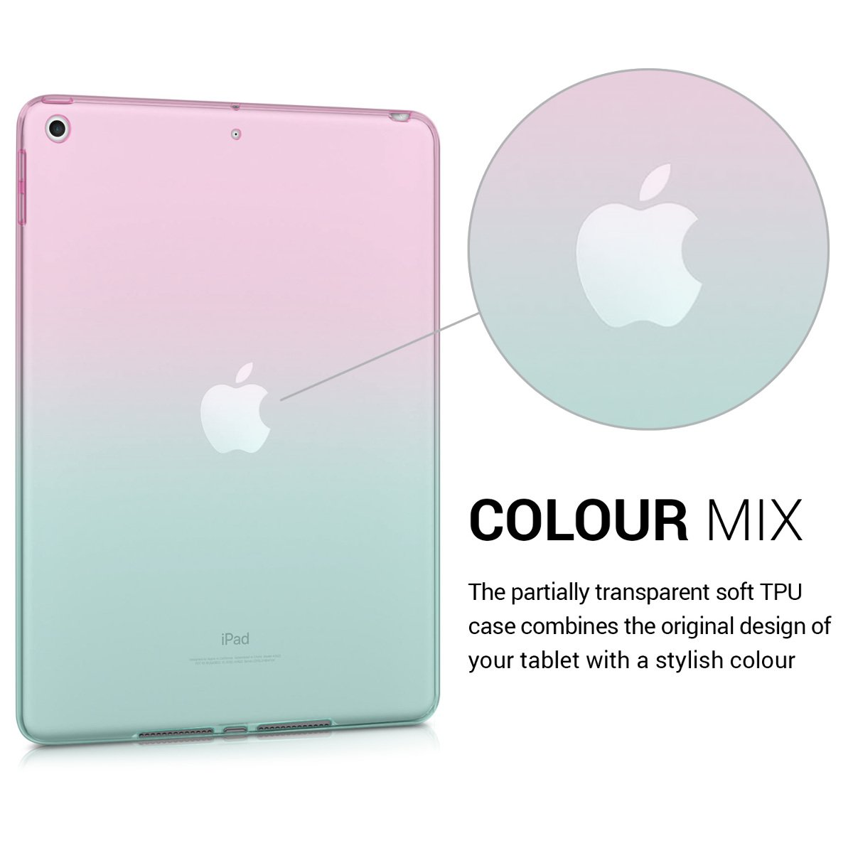 2017//2018 kwmobile Apple iPad 9.7 Custodia Tablet in Silicone TPU Cover 2017//2018 Copertina Protettiva Tab Backcover per Apple iPad 9.7
