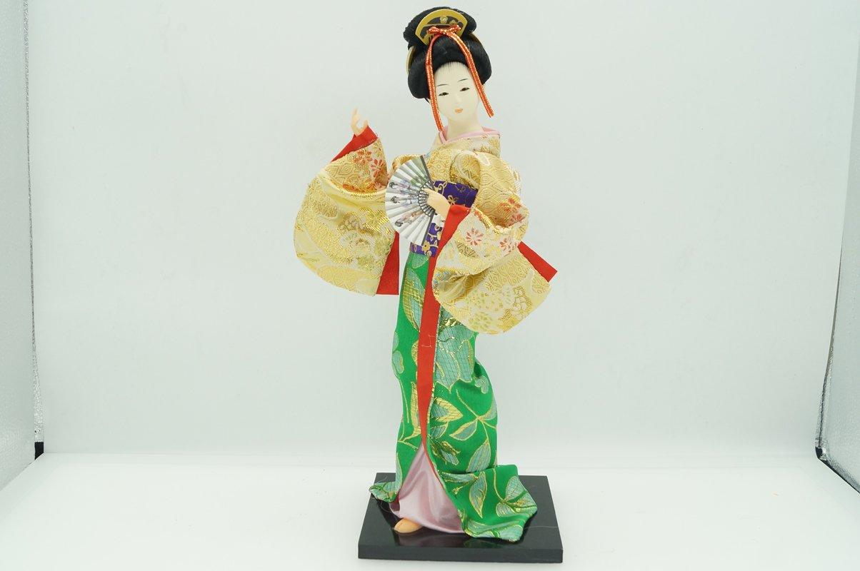 33cm/12.99'' Japanese Vintage Geisha Hina Doll Figurine Holding the animal