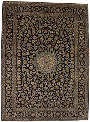 - Fanciful S Antique Handmade Navy Kashan Persian Style Area Rug Oriental Carpet 10X14