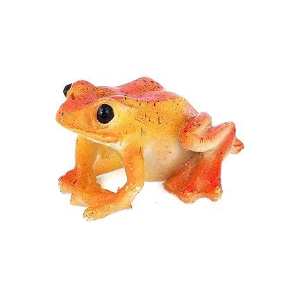Sourcingmap Plástico Adorno de Acuario Fish Tank simulado con Forma de Rana, Color Naranja