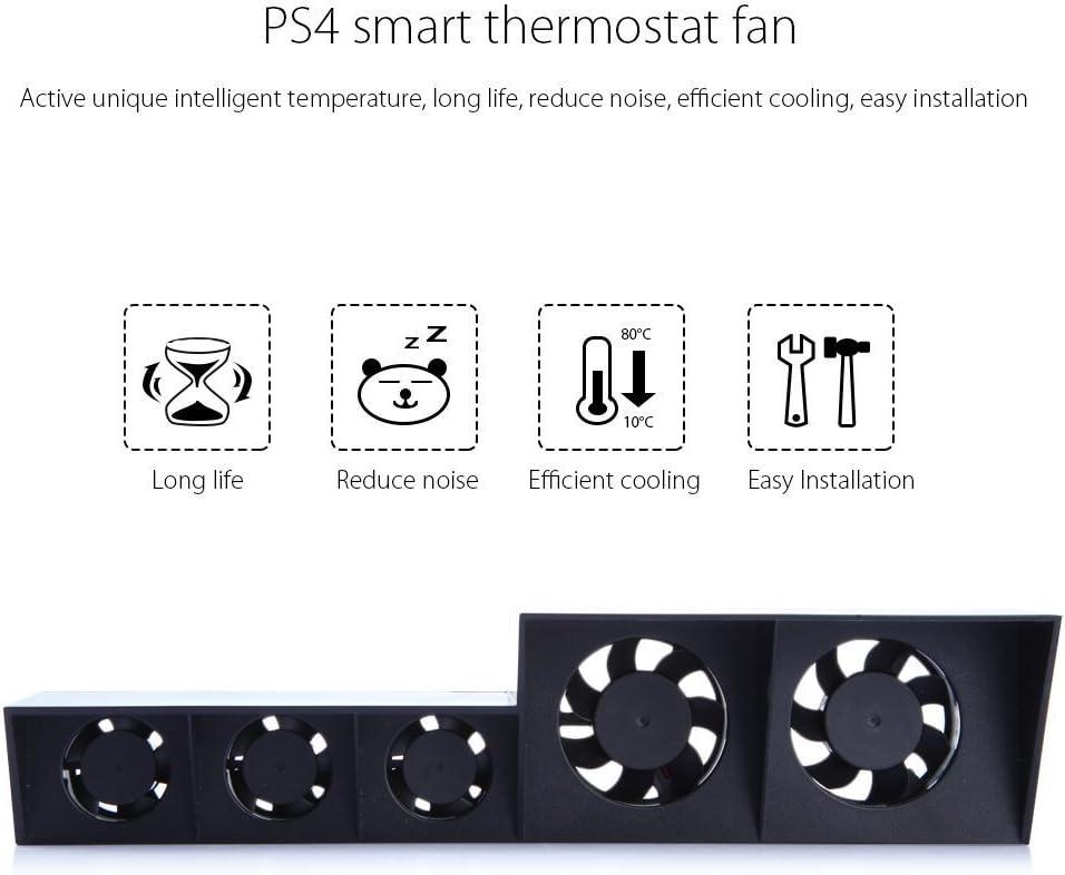 KONKY Ventilador PS4, Cooler PS4 Turbo Ventilador Externo USB con ...