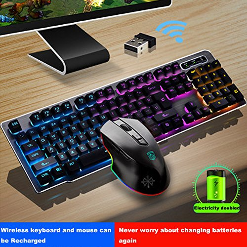 11ca1e0053d9 free shipping Rechargeable Keyboard and Mouse Wireless Combo,USB ...