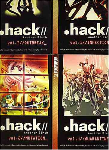 .hack//Another Birth series Books #1 - #4