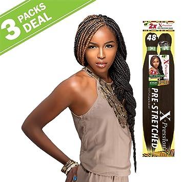 MULTI PACK DEALS! Sensationnel Synthetic Hair Braids XPRESSION 2X  Pre,Stretched Braid