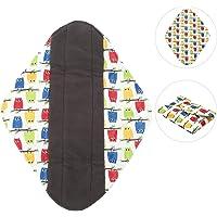 Almohadillas menstruales,Paño Sanitario Reutilizable Panty Reutilizable Lavable, Servilletas Sanitarias Lavables, Forro De Tela De Carbón De Bambú Almohadilla Menstrual Sanitaria Mama(01)(solo 1 Piezas)