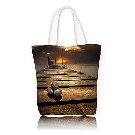 d61883fffcd Amazon.com  Ladies canvas tote bag -W16.5 x H14 x D7 INCH Tote ...