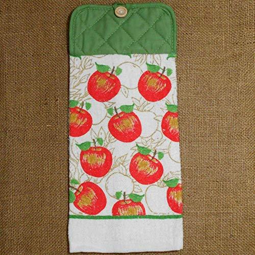 Apple Kitchen Tea Towel - Apple Hanging Dish Towel, Fruit Themed Kitchen Decor