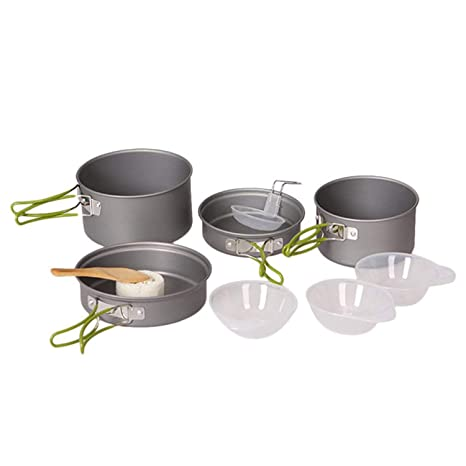 Camping & Hiking Collection Here 1 To 2 People Camping Cookware Kit Portable Kitchen Pan Pot Set Suitable For Hiking Camping Fine Quality