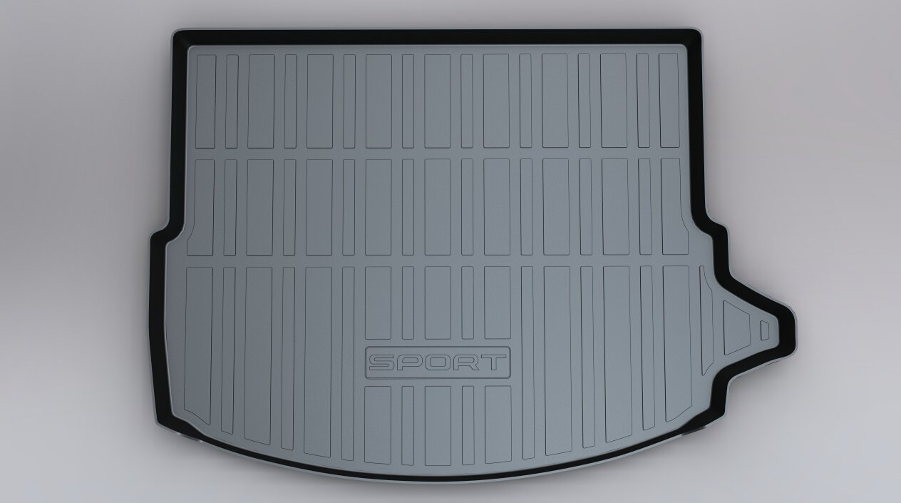 Vesul Rubber Rear Trunk Cover Cargo Liner Trunk Tray Floor Mat Carpet Fits on Land Rover Discovery Sport 2015 2016 2017 2018 2019