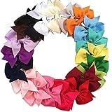 Prochive Boutique Baby Girls Kids Children Teens Hair Bows Alligator Clip Grosgrain Ribbon Headband 20 PCS
