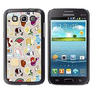 Samsung Galaxy Win / i8550 / i8552 / Grand Quattro , Radio-Star - Cáscara Funda Case Caso De Plástico (Cool Cute Pattern)