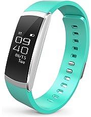 Runme Tracker d'Activité, Montre Connectée avec Surveillance de Sommeil, Montre Cardio Bracelet Connecté Bluetooth 4.0 Montre Smart pour Sport Fitness, Podomètre Traqueur avec Android et iOS