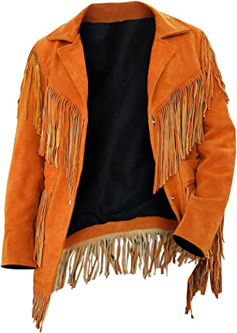 Ladies Tan Western Wear Suede Leather Jacket Fringed Women Suede Leather Jacket