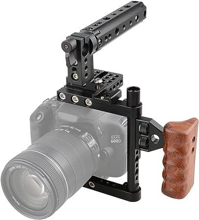 Camvate Dslr Kamera Käfig Ein Top Griff Holz Grip Für Kamera