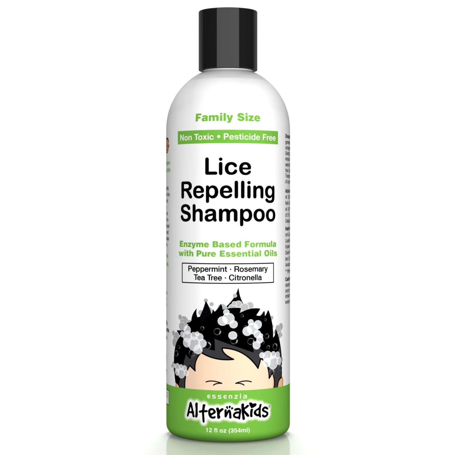 Natural Head Lice Shampoo by AlternaKids - Non-Toxic Hair Treatment That Kills, Removes, Prevents Super Lice and Nits | for Kids and Adults (12 oz Bottle)