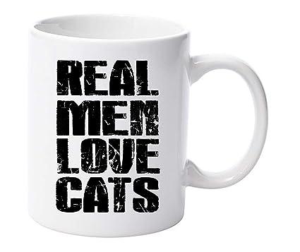 Los hombres de verdad amor taza tazas de gatos
