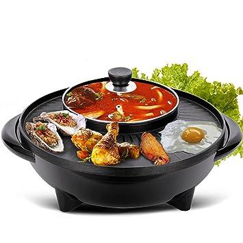 Cookware Olla para barbacoa sin humo, multifuncional antiadherente, horno eléctrico