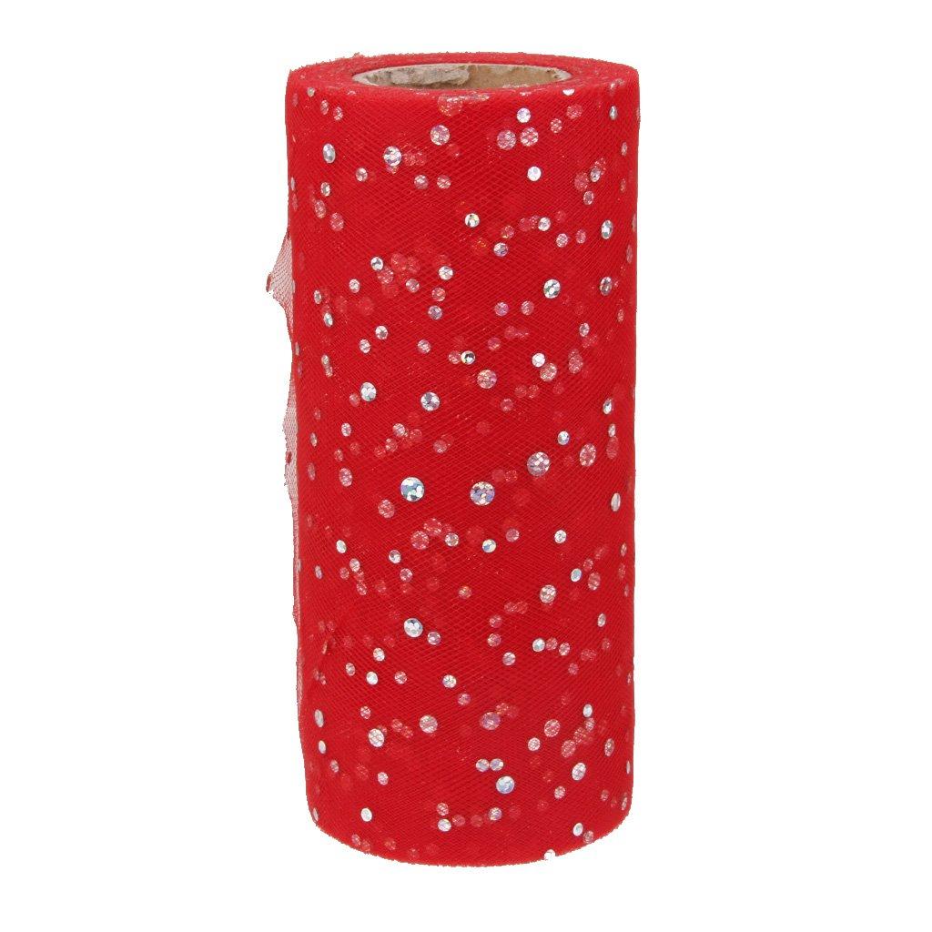 Rouleau Tulle Sequin pour Couture Tutu Artisanal D/écor de Mariage 22mx15cm