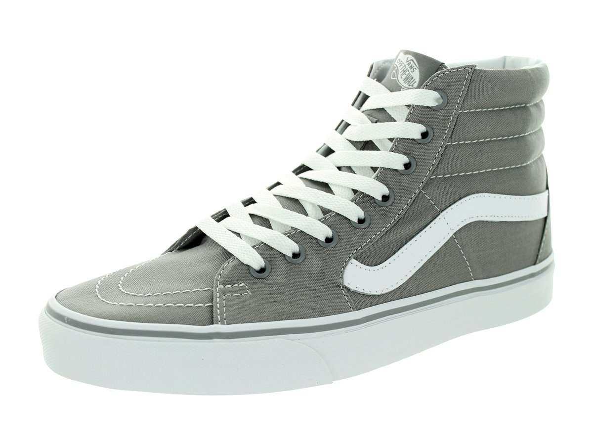 Vans SK8 Hi Frost Grey/White Men's Fashion Sneakers Canvas (10.5 men/ 12.0 women)