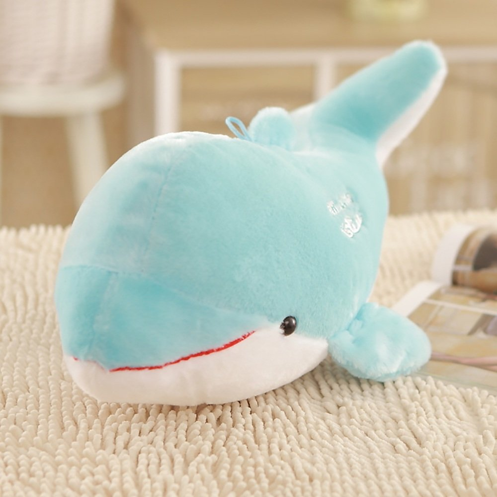 LJHA kaodian Dolphin Shape Cushion Cute Comfortable Baby Toy Stuffed Animal Cotton Doll Toy Pillow 3 Colors Available (Color : Blue, Size : 60cm)