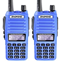 2PCS BaoFeng UV-82 Dual Band (VHF/UHF) Analog Portable Two-Way Radio Blue color