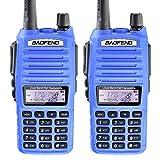 2PCS BaoFeng UV-82 UV82 5W Dual Band VHF/UHF Analog Portable Two-Way Radio Blue