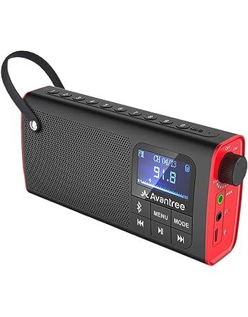 3ef6d3b07 Avantree 3 en 1 Radio FM con Altavoz Bluetooth Portátil y Reproductor de  tarjeta SD ,