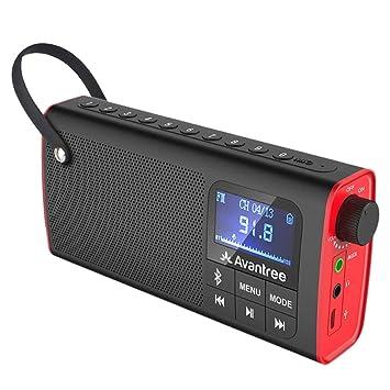 Avantree 3 In 1 Portable Fm Radio Mini Bluetooth Lautsprecher