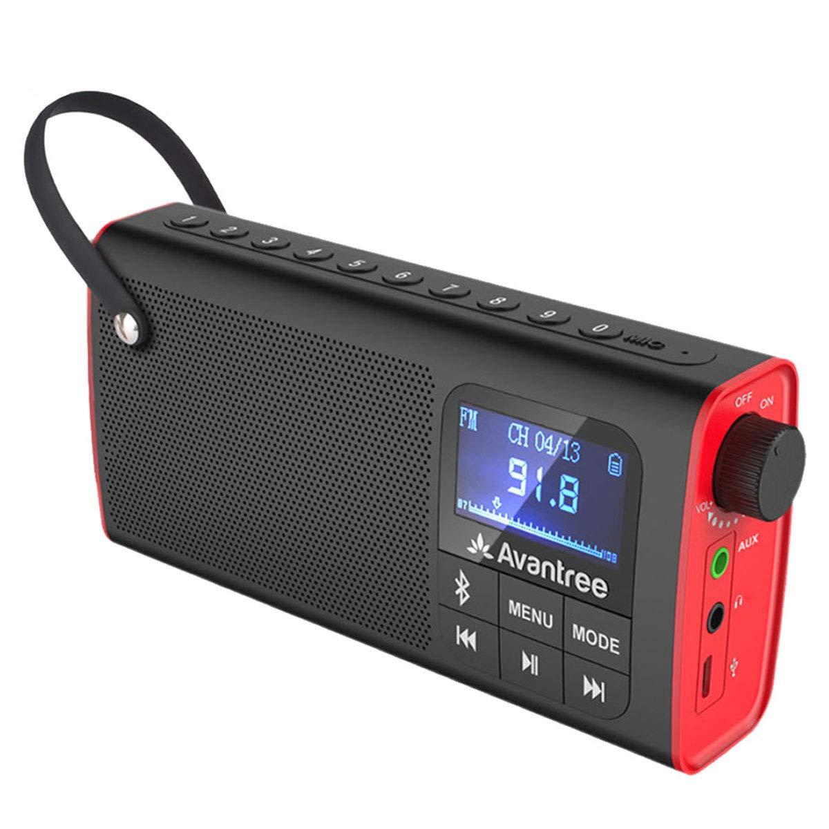 938ccf818 Avantree 3 en 1 Radio FM con Altavoz Bluetooth Portátil y Reproductor de  tarjeta SD