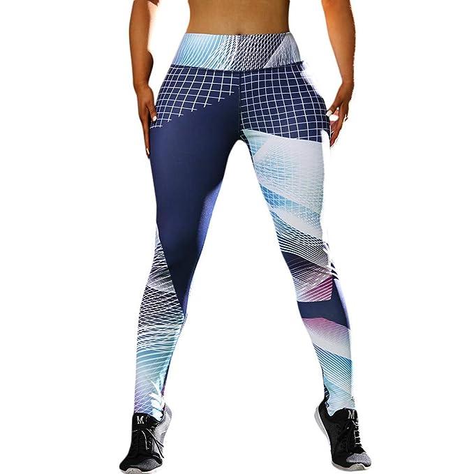 Yusealia Yoga Mujer Deportivas Pantalones, Alto Elásticas de Cintura ...