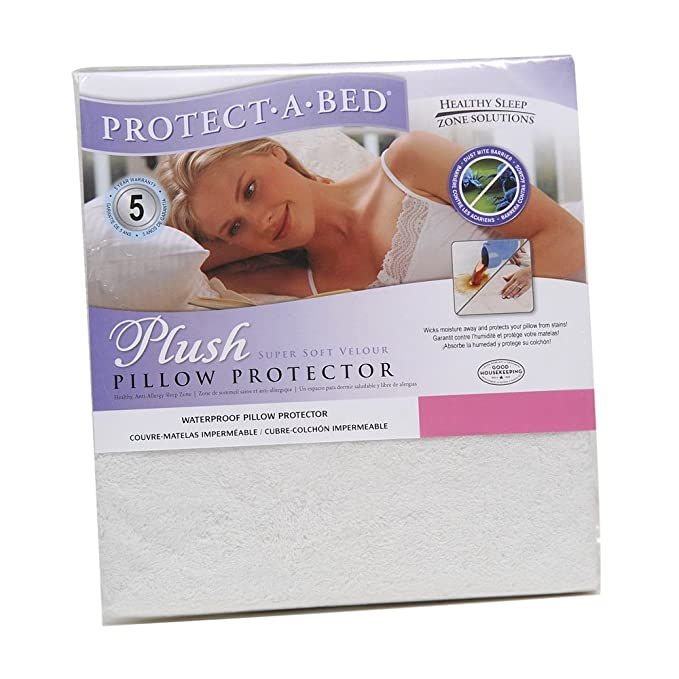 Amazon.com: Protect-A-Bed Plush Waterproof Pillow Protector, King Pillow Size (21x37 in.): Home & Kitchen